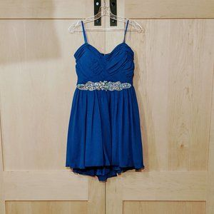 Strapless Blue Prom/Homecoming Dress